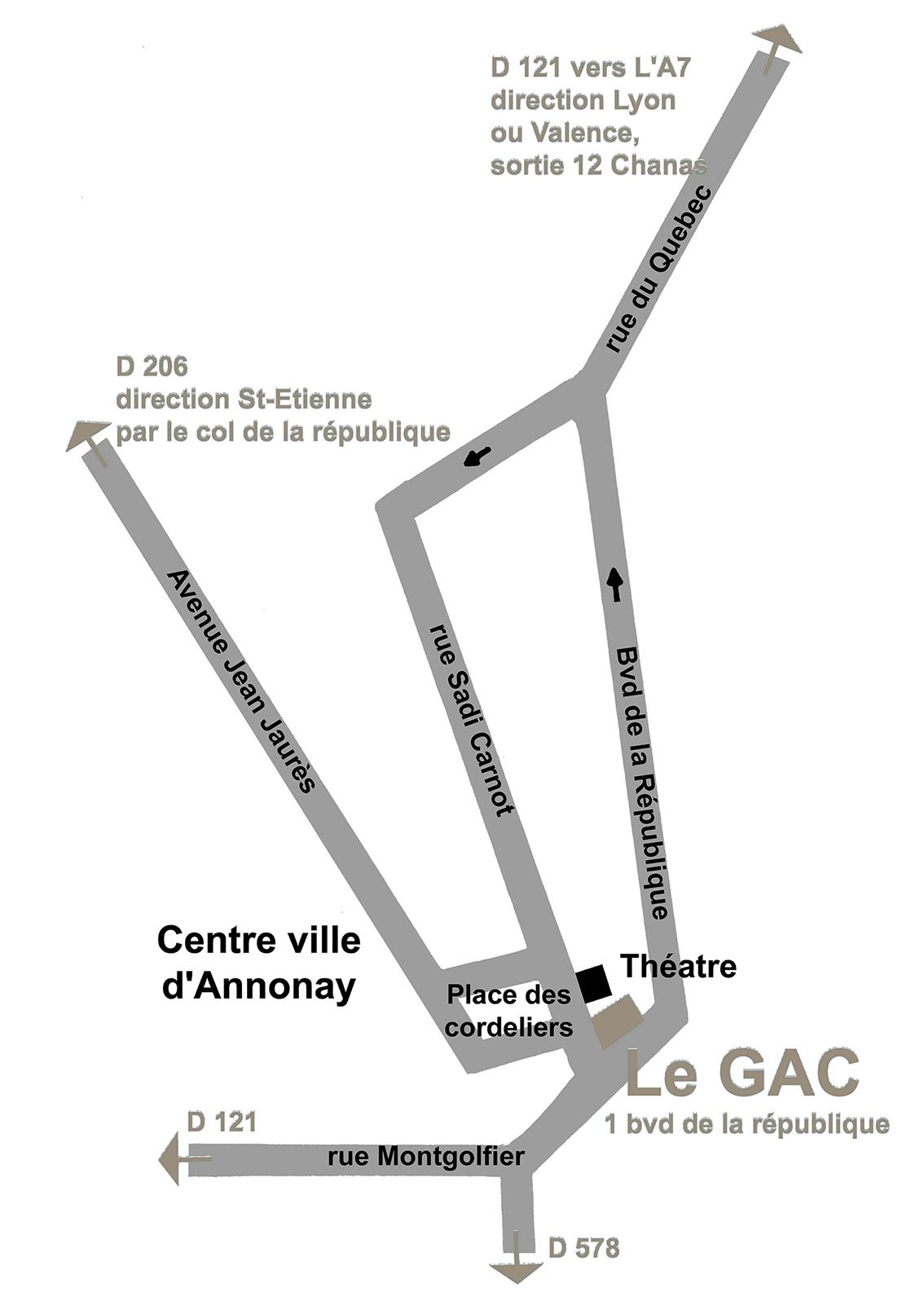 Plan d'accès GAC Annonay